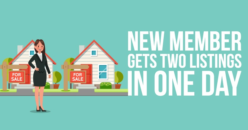 New_Member_Gets_Two_Listings_in_One_Day